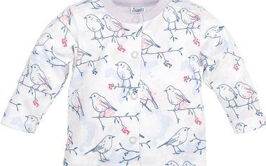 Pinokio Dívčí kabátek s ptáčky, 56 cm