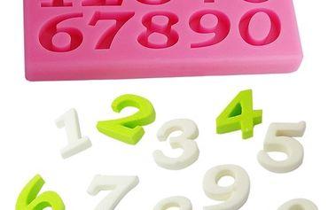 Silikonová formička s čísly - dodání do 2 dnů