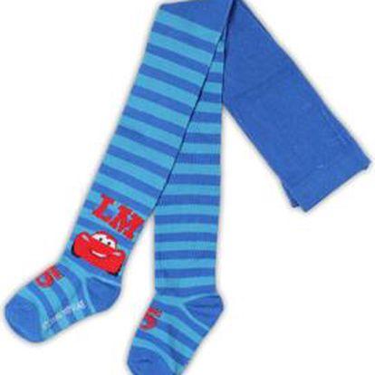 E plus M Chlapecké pruhované punčocháče Cars - modré, 80 cm