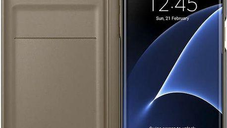 Samsung EF WG935PF Flip Wallet Galaxy S7e, Gold