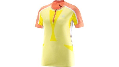 Salomon Sky Tee W Flashy-X/Coral Punch/White S