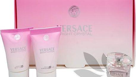 Versace Bright Crystal - toaletní voda 5 ml + tělové mléko 25 ml + sprchový gel 25 ml