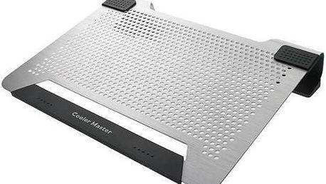 "Coolermaster Notepal U2 Plus Silver, chladicí podstavec pro NTB 17"" (R9-NBC-U2PS-GP)"