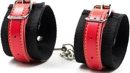 Pevná erotická pouta Leather Cuf vyrobená z kůže, ...
