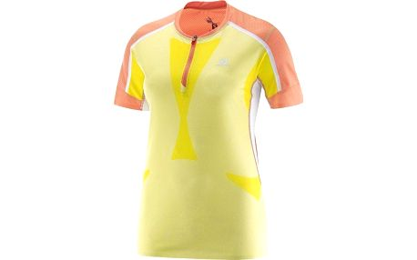 Salomon Sky Tee W Flashy-X/Coral Punch/White L