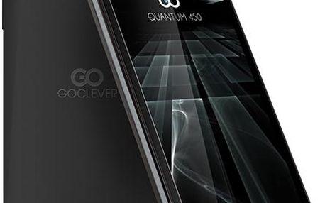 Telefon GoClever Quantum 450 LTE Dual SIM, černý + 200 Kč za registraci + dodatečná sleva 20 %