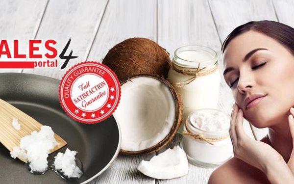 100% kokosový olej. 1 kg oleje, který je vhodný pro zdravé vaření i pro hydrataci pokožky jen za 129 Kč!