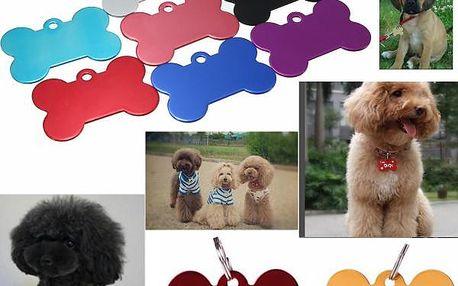 Identifikační známka pro psy - různé barvy