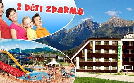 Nízké Tatry se 2 dětmi do 12 let ZDARMA přímo pod Chopokom. Výtečná polopenze, slevová karta Liptov Region Card s množstvím slev na aktivity, stolní fotbal, X-box, sleva na Wellness to vše ve stylovém hotelu SKI!