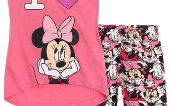 Disney Dívčí set s Minnie- růžový, 116 cm