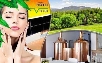 Pobyt ve všední dny v největších konopných lázních v Evropě s ubytováním v Hotelu Bobík s vlastním minipivovarem. Platnost do konce června