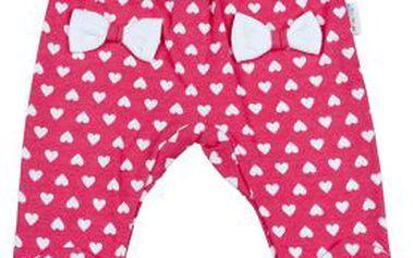 Mamatti Dívčí srdíčkové polodupačky - růžové, 80 cm