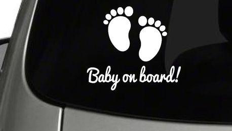 MaDéco Samolepka na auto Baby on board, 15x15 cm