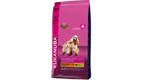Granule Eukanuba Adult Small & Medium Light/Weight Control 15 kg + Doprava zdarma