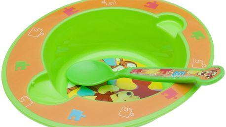 OKT Miska a lžička Winnie the Pooh, zelené