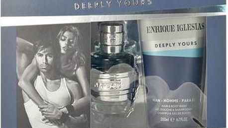 Enrique Iglesias Deeply Yours EDT dárková sada M - Edt 40ml + 200ml sprchový gel