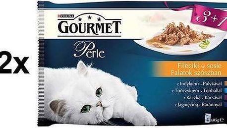 Gourmet Perle mini filetky ve šťávě Multipack 12 x (3+1 zdarma 85g)