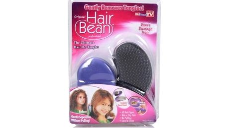 Hřeben na vlasy Hair Bean během chvilky jemně a bez námahy rozčeše i ty nejzacuchanější vlasy.