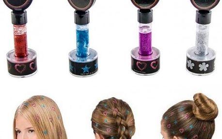 Vlasová razítka Hot Stamps - speciální razítko vytvoří na vašich vlasech krásný třpytivý vzor.