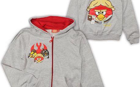 E plus M Chlapecká mikina Angry Birds - šedá, 122-128 cm