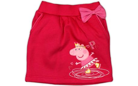 E plus M Dívčí sukně s mašlí Peppa Pig - růžová, 104-110 cm