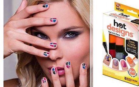 Kreativní nehtová sada Hot designs.Proč chodit do nehtového salonu? Vytvořte si krásné nehty doma.