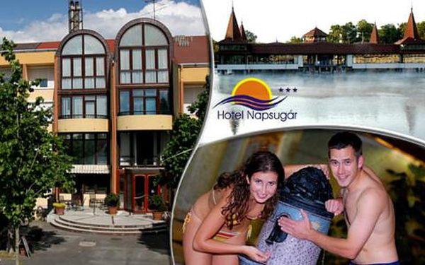 Lázeňský wellness v Hotelu Napsugár*** jen kousek od termálního jezera Hévíz, platnost až do 30. 9. 2016