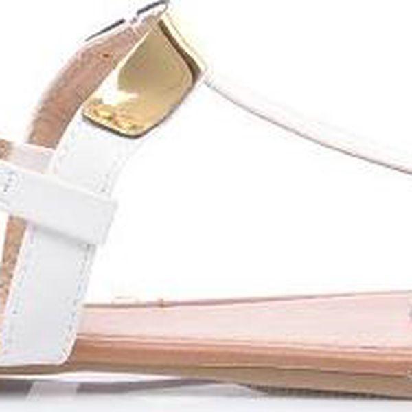 SERGIO TODZI Bílé sandálky JU526W /S2-93P 39