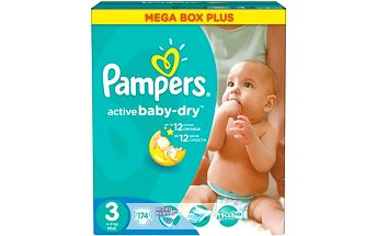 Plenky Pampers Active Baby-dry vel. 3 Midi, 174ks