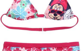 Disney Dívčí dvoudílné plavky Minnie - barevné, 128 cm