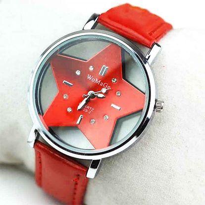 Dámské hodinky s hvězdičkovým ciferníkem