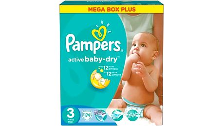 Plenky Pampers Active Baby-dry vel. 3 Midi, 174ks