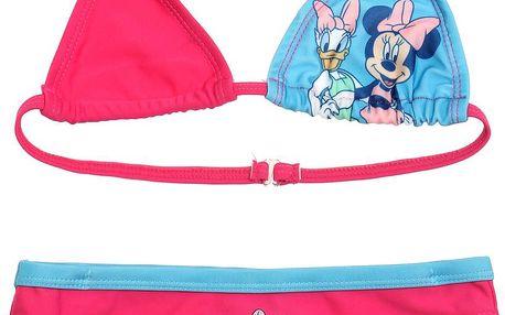 Disney Dívčí dvoudílné plavky Minnie a Daisy- růžové, 116 cm