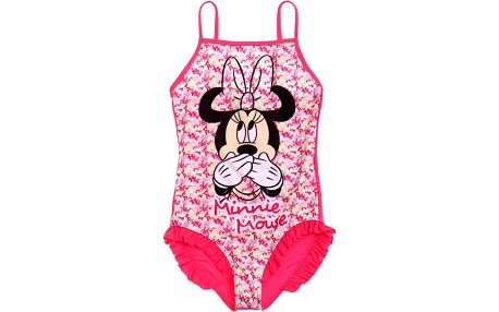 Disney Dívčí jednodílné plavky Minnie - mašličky, 104 cm