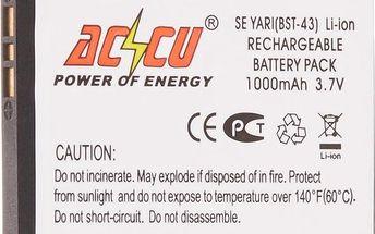 Accu baterie za Sony Ericsson BST-43 1000mAh Li-ion pro J10i, J20i, U100