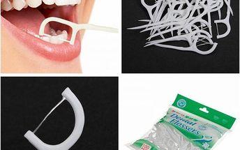 Zubní nit s párátkem - 100 kusů - dodání do 2 dnů