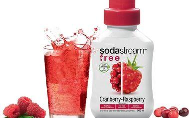 Sirup SodaStream 500 ml s příchutí Brusinka - Malina