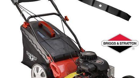 Benzínová sekačka Sharks s pojezdem, motor Briggs&Stratton, 3,5 HP, náhradní nůž ZDARMA