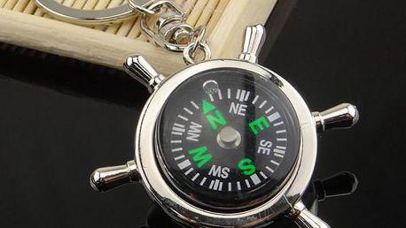 Klíčenka kormidla s kompasem - skladovka - poštovné zdarma