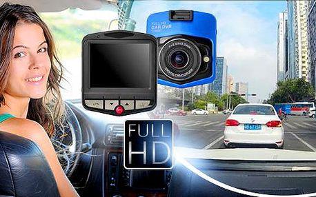 FULL HD palubní kamera do vozu včetně poštovného! Detekce pohybu, cyklické natáčení, jednoduché ovládání.