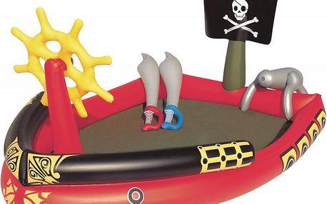 Nafukovací bazén Bestway ve tvaru pirátské lodi 190×140×96 cm