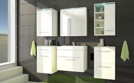 Stylová koupelna MEGI 5 Bílý / bílý lesk