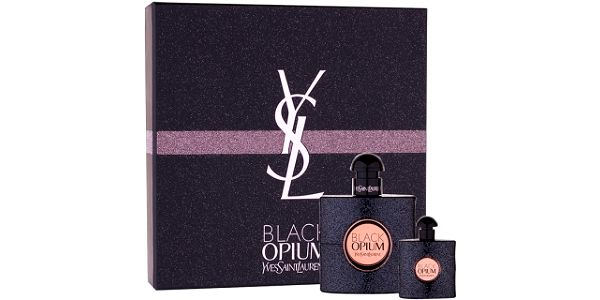 Yves Saint Laurent Black Opium dárková kazeta pro ženy parfémovaná voda 50 ml + parfémovaná voda 7,5 ml