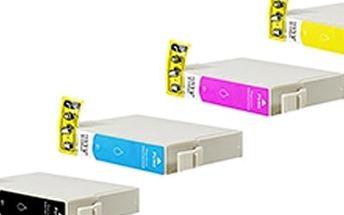 Kompatibilní sada náplní pro tiskárny Canon nebo Epson. Jasné barvy, inkoust a speciální čip!!