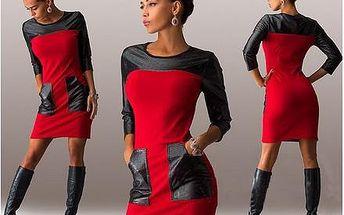 Šaty ve dvou barvách, S - XXL