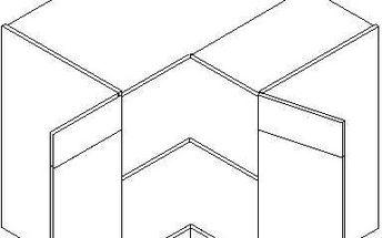 Skříňka dolní DRP P/L - SINGIEL blanco/dub lanýž