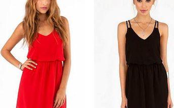 Chifonové šaty ve dvou barvách, XS - 2XL