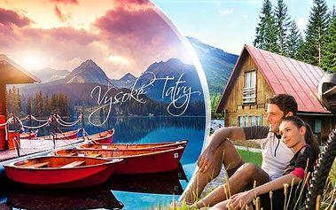 Vysoké Tatry v létě až na 6 dní v chatkách Tatranec** pro 4-6 osob! Snídaně, slevy na wellness a aktivity