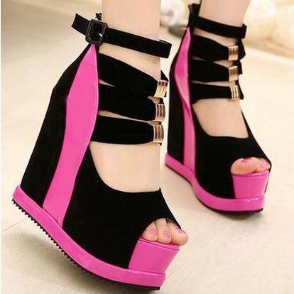 Luxusní botičky na platformě - 4 barvy