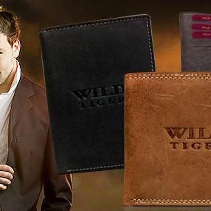 Luxusní pánská peněženka Wild Tiger z pevné broušené kůže! 12 elegantních modelů na výběr!